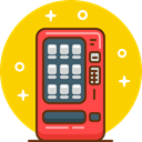 Coffee, snack, cola, soda, Vending, Vending Machine Gold icon