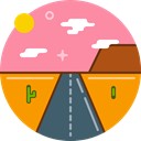 sun, highway, Desert, hot, Road, texas HotPink icon