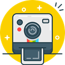 selfie, shoot, Instagram, Polaroid, Camera, photo Gold icon