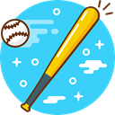 Game, play, Ball, sport, bat, baseball Turquoise icon