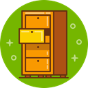 Keep, stock, chest, Drawer, save, Archive, furniture OliveDrab icon