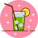 cocktail, party, Alcohol, drink, glass, Club HotPink icon