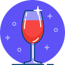 glass, Restaurant, wine, red, Bar, Alcohol, drink MediumSlateBlue icon