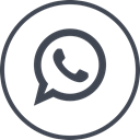 online, Social, Whatsapp, media Black icon