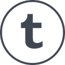 Tumblr, media, online, Social Black icon