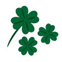success, luck, Leaf, Clover, Patrick, fortune, quatrefoil DarkGreen icon
