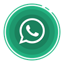 social media icons, Whatsapp SeaGreen icon