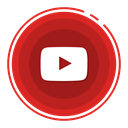 youtube, social media icons Firebrick icon