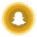 social media icons, Snapchat Goldenrod icon