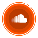 Soundcloud, social media icons OrangeRed icon