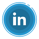 In, linked, social media icons SteelBlue icon
