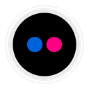 flickr, social media icons Black icon