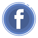 Facebook, social media icons SteelBlue icon