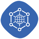 globe, internet, Connection, of, Things, internet of things SteelBlue icon