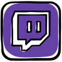 Community, Games, media, video, Twitch, gamer, Social, platform DarkSlateBlue icon
