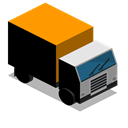 Front, truck, vehicle, Lorry Icon