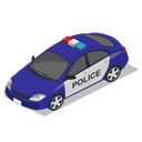 police, Car, vehicle Black icon