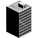 skyscraper, Building Black icon