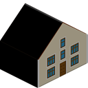 Home, house, Building Black icon