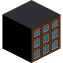 school, Building DarkSlateGray icon
