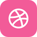 Social, Android, dribbble, media, global, App, ios PaleVioletRed icon