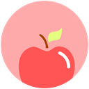 Apple, food, fitness, nutrition, heath LightPink icon