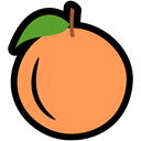 health, food, nutrition, Citrus, Orange SandyBrown icon