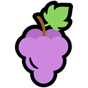food, Grapes, nutrition Black icon