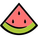 nutrition, food, watermelon, summer Black icon