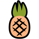 food, summer, vacation, nutrition, tropical, pineapple Black icon