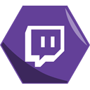 stream, Live, Social, networking, Hexagon, Twitch, Awesome DarkSlateBlue icon
