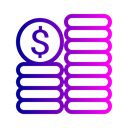 Currency, Money, coin, Dollar Black icon