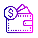 Currency, pocket, Finance, Money, Dollar Black icon