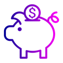 Finance, coin, Dollar, savings, Currency, Bank, piggy Black icon