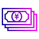 Money, yen, Currency, Account Black icon