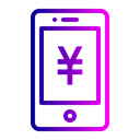 Mobile, sign, Finance, Money, yen, Currency Black icon