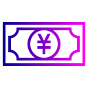 Money, yen, Currency Black icon