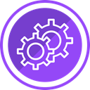 Gear, repair, Optimize, Setting, construct BlueViolet icon