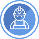 safety, helmet, Protection, Construction, Engineer, Civil CornflowerBlue icon