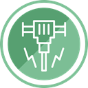Construction, driller, tool, Hand, Building DarkSeaGreen icon
