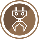 Building, equipment, machine, work, Construction, heavy, machinery Sienna icon