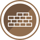 Bricks, Building, wall, Construction Sienna icon