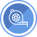 equipment, tape, Construction, tool, line CornflowerBlue icon
