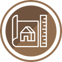 Home, paper, contract, plan, deal, property Sienna icon