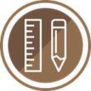Design, equipment, pencil, Drawing, ruler Sienna icon