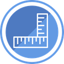 pencil, Drawing, ruler, Design, equipment CornflowerBlue icon
