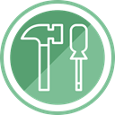 hammer, tool, Construction DarkSeaGreen icon