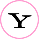 media, web, yahoo, Social LightPink icon