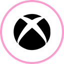 media, web, xbox, Social Black icon