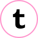 Tumblr, media, web, Social LightPink icon
